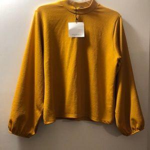 🔵Zara Mustard Top